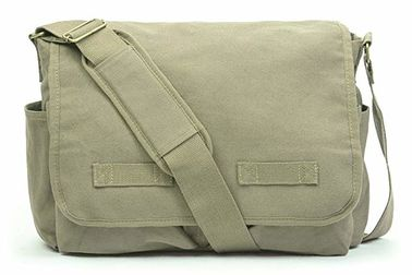 China Outdoor Military Tactical Sling Bag , Vintage Military Canvas Bag Spacious Capacity supplier