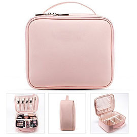 China Professional Small Makeup Vanity Bag , Portable Cosmetic Organizer Case supplier