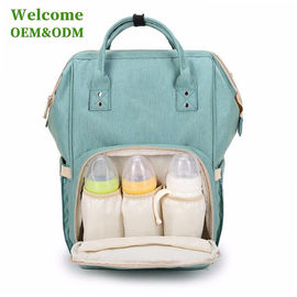 China Fashionable Baby Care Nappy Changing Bags , Durable Green Infant Diaper Bag factory