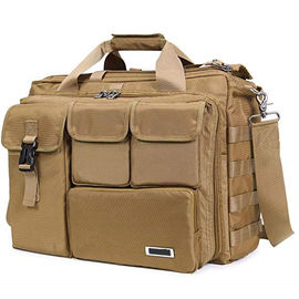 Multifunction Military Laptop Messenger Bag , Tactical Computer Bag Brown Color