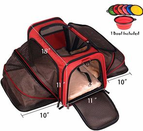 China Two Side Expandable Pet Carrier , Extra Spacious Soft Air Travel Pet Carrier factory