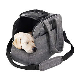 China Polyester / Canvas Puppy Airline Carrier Bag , Soft Sided Dog Crates Airline Approved factory