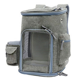 China Lightweight Airline Approved Pet Carrier Bag With Locking Clasps & Fleece Padding factory