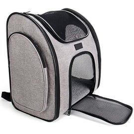 Ventilate Designed Collapsible Cat Carrier Bag , Airline Approved Pet Carrier Backpack