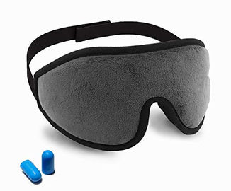 China Lightweight Memory Foam Eye Mask With Ear Plugs / Adjustable Strap factory