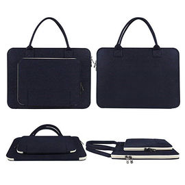 China Ultrabook Notebook Computer Carrying Case , Navy Blue Laptop Travel Bag factory
