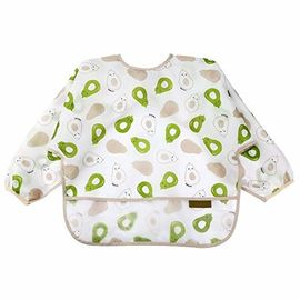 China Mealtime Baby Feeding Smock Long Sleeve Bibs For Toddlers 6-36 Months factory