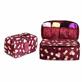 Fashionable Bra And Panty Travel Case / Portable Travel Lingerie Organizer Bag