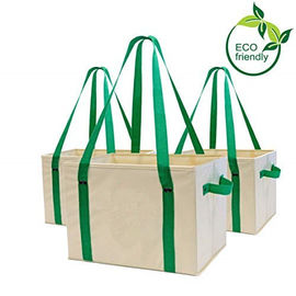 China Heavy Duty Collapsible Recycle Shopping Bags With Fold Up Reinforced Bottom factory
