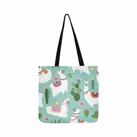 China Reusable Foldable Shopping Tote Bag , Custom Printed Canvas Tote Bags factory