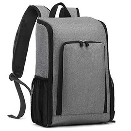 Gray 17 Liter Foldable Insulated Backpack Cooler Bag For Picnic Waterproof