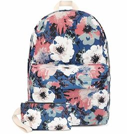 China Fashion Lightweight Travel Backpack School Bag With Wallet Peony Printed factory