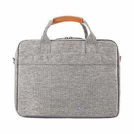 China Grey Comfortable Laptop Carrying Case With Shockproof Pad And Luggage Strap factory