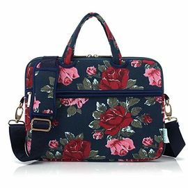 China Ultra Portable Canvas Laptop Bag / Over The Shoulder Laptop Bag For Lady factory