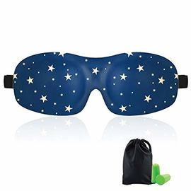 Woman & Man 3d Sleeping Eye Mask , Total Darkness Travel Eye Mask Free Earplugs
