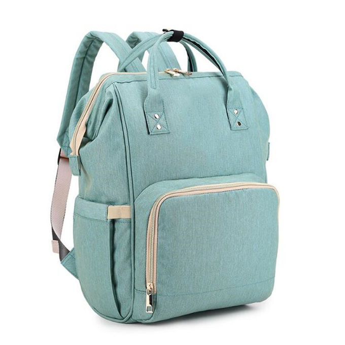 Fashionable Baby Care Nappy Changing Bags , Durable Green Infant Diaper Bag