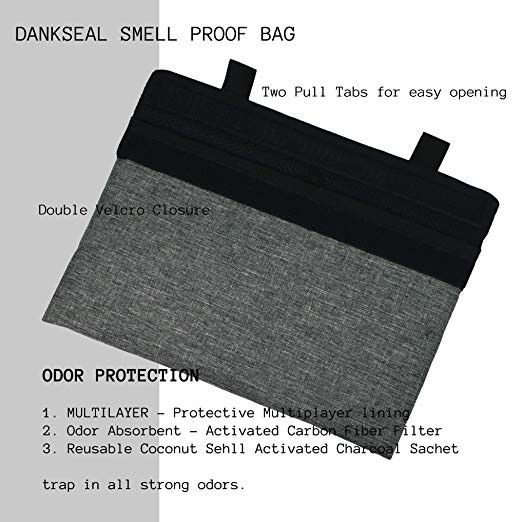 Coconut Shell Activated Charcoal Bags And Five 4X6 Odor Proof Pouch Reuseabl