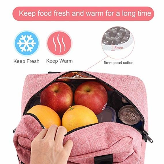 Soft Sided Insulated Cooler Tote Bags For Outdoor Camping / Beach Pink Color