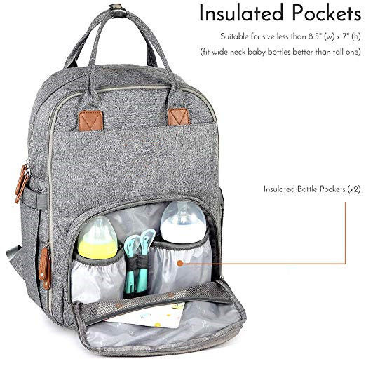 Chic High End Dad Diaper Bag Backpack , Cute Baby Boy Diaper Bags For Moms